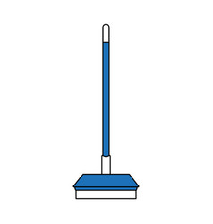 broom home tool vector image
