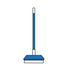 broom home tool vector image