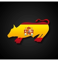 bullfighting classic icon of Spanish culture vector image