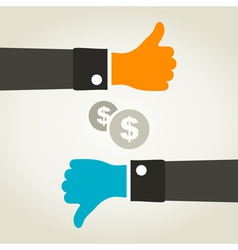 Business a hand vector image