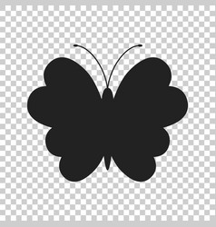 Butterfly icon silhouette of a butterfly vector