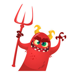 cartoon cute devil monster vector image