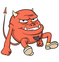 Cartoon red devil vector