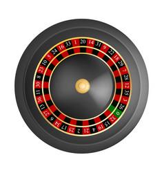 casino black red wheel mockup realistic style vector image