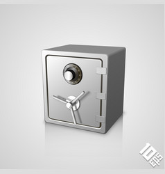 Closed safe icon vector