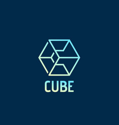 cube abstract sign emblem or logo template vector image