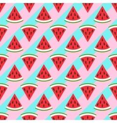 Cute seamless watermelon pattern vector image