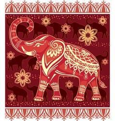 Decorated stylized elephant vector image