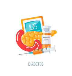 Diabetes concept in flat style icon vector