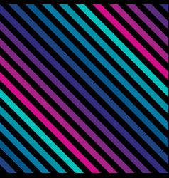 Diagonal stripes seamless pattern in neon bright vector