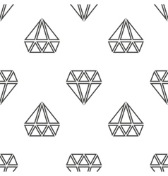 Diamonds seamless pattern in black and vector