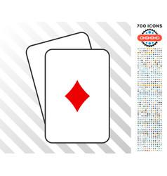 diamonds suit cards with bonus vector image