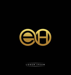 eh initial letter linked circle capital monogram vector image