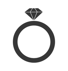 engagement ring icon vector image