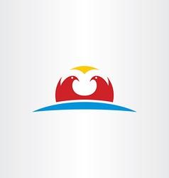 Falcon logo icon symbol vector