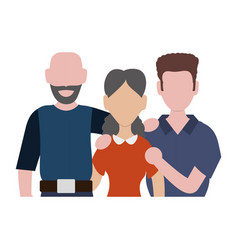 Family faceless together vector