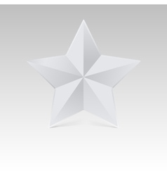 Five pointed star with shadow white color vector image