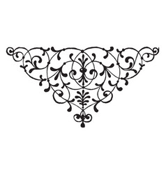 Floral motif has leaves on it vintage engraving vector
