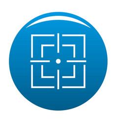 Focusing icon blue vector