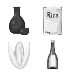 Food and organic icon set vector