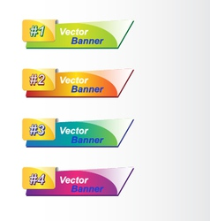 Four abstract banners vector image