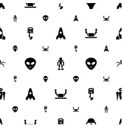 Futuristic icons pattern seamless white background vector