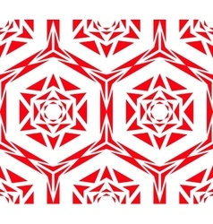 Geometric Red Rose Pattern vector image