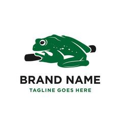 green frog logo design vector image