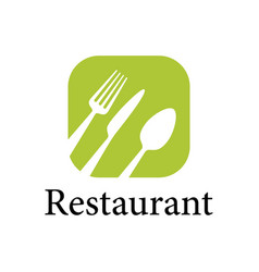 green restaurant logo vector image