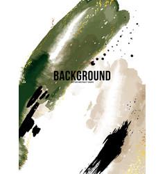 Green rustic watercolor ink banner vertical vector
