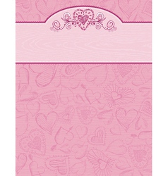 Hand draw hearts on grunge pink background vector