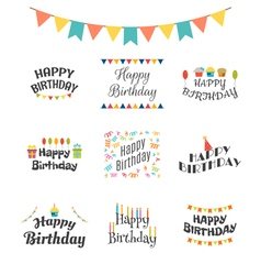 Happy Birthday greeting cards Birthday theme vector
