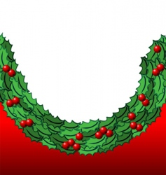 holly background vector image