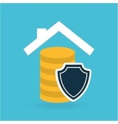 house money insurance concept design graphic vector image
