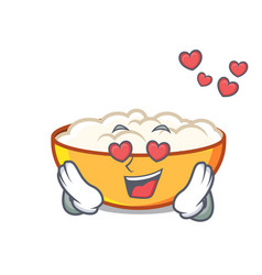 In love cottage cheese mascot cartoon vector