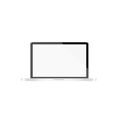 laptop with a light display on a white background vector image