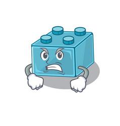 Lego brick toys cartoon character style having vector