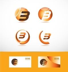 Letter b logo icon set vector image