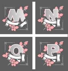 Letters alphabet flower vector
