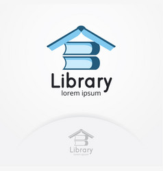 library logo design vector image