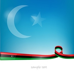 libya flag on sky background vector image
