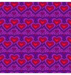 Lilac chain of hearts seamless pattern vector