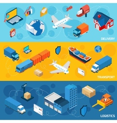 Logistics Banner Set vector