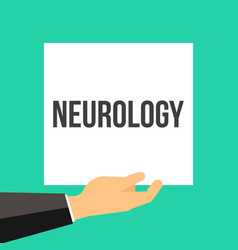 man showing paper neurology text vector image