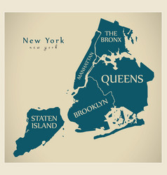 Modern city map - new york city of the usa with vector
