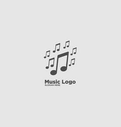 Music note logo design template vector
