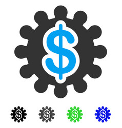 Payment options gear flat icon vector