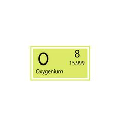 Periodic table element oxygenium icon element of vector