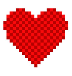 pixelated heart shape icon vector image