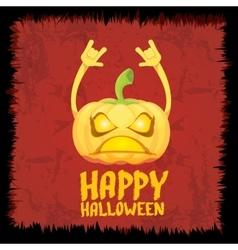 Pumpkin rock n roll style halloween greeting card vector